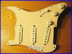 Lindy Fralin Loaded Strat Pickguard Woodstock'69 All Mint STD/ Blender Wiring