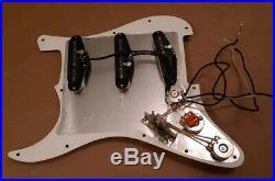 Lindy Fralin Steel Pole pickup loaded Stratocaster pickguard Strat guitar