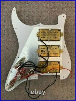 Loaded GFS Dream 180 3 Humbucker Strat Stratocaster Pickguard with Push Pull Pots