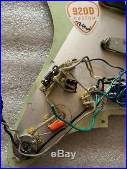 Loaded pickguard Strat used, 920D, Fat'50s neck, Custom'69 mid, N3 Bridge