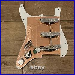 Mojotone'58 Quiet Coil Hot Bridge Strat Prewired Loaded Pickup Set Pickguard