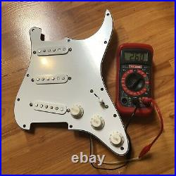 NEW Fender Custom Shop 69 Strat Pickup Set Prewired Loaded Pickguard PIO White