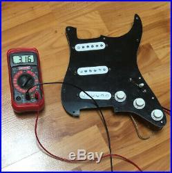 NEW Fender Custom Shop Texas Special Prewired Strat Pickguard Loaded PIO Black