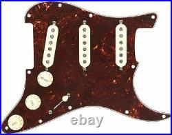 NEW Fender Loaded Pre-Wired Strat Pickguard, Tex-Mex SSS, TORTOISE, 099-2343-500