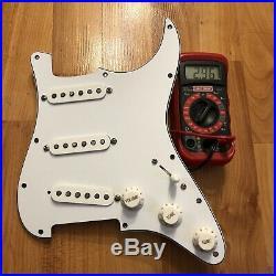 NEW Fender Original 57/62 Prewired Strat Pickup Set Loaded Pickguard PIO White