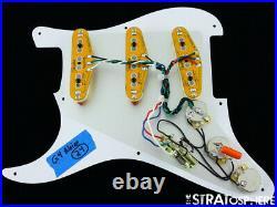 NEW Fender Strat LOADED PICKGUARD Gen 4 Noiseless DARK Brown Tortoise 8 Hole