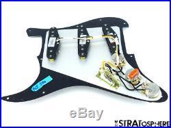 NEW Fender Stratocaster LOADED PICKGUARD Strat C Shop Fat 50s Black 3Ply 11 Hole