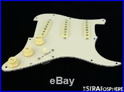 NEW Fender Stratocaster LOADED PICKGUARD Strat C Shop Fat 50s Cream 3Ply 11 Hole