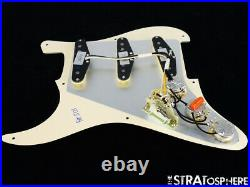 NEW Fender Stratocaster LOADED PICKGUARD Strat C Shop Fat 50s Cream 3 Ply 8 Hole