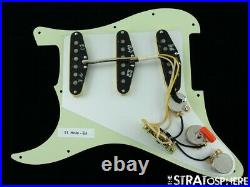 NEW Fender Stratocaster LOADED PICKGUARD Strat Eric Johnson DARK Mint Green 11