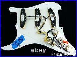 NEW Fender Stratocaster LOADED PICKGUARD Strat Fat 60s DARK Brown Tortoise 11