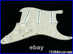 NEW Fender Stratocaster LOADED PICKGUARD Strat Tex Mex Aged Pearloid 8 Hole