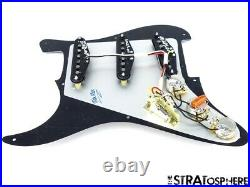 NEW Fender Stratocaster LOADED PICKGUARD Strat Tex Mex Black 3 Ply 8 Hole