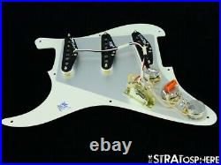 NEW Fender Stratocaster LOADED PICKGUARD Strat Tex Mex Parchment 1 Ply 8 Hole