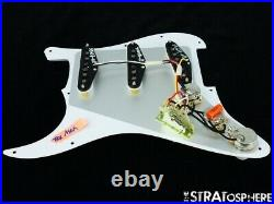 NEW Fender Stratocaster LOADED PICKGUARD Strat Tex Mex White 3 Ply 11 Hole