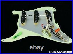 NEW Fender Stratocaster LOADED PICKGUARD Strat USA V-Mod Mint Green 3Ply 11 Hole