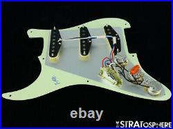 NEW Fender Stratocaster LOADED PICKGUARD Strat USA V-Mod Mint Green 3 Ply 8 Hole