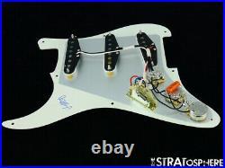 NEW Fender Stratocaster LOADED PICKGUARD Strat USA V-Mod Parchment 1 Ply 8 Hole