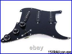 NEW Fender Stratocaster LOADED PICKGUARD Strat Vintage 57/62 Black 3 Ply 11 Hole