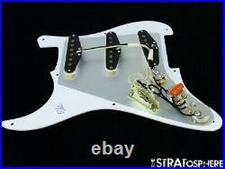 NEW Fender Stratocaster LOADED PICKGUARD Strat Vintage 57/62 White 1 Ply 8 Hole