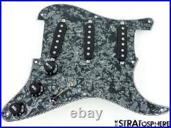 NEW Fender Stratocaster LOADED PICKGUARD Strat Vintage 59 Black Pearloid 8 Hole