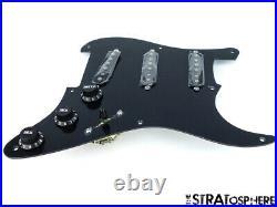 NEW Fender Stratocaster LOADED PICKGUARD Strat Vintage 65 Black 1 Ply 8 Hole