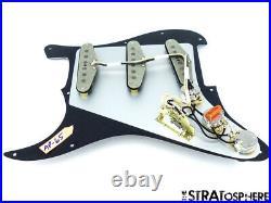 NEW Fender Stratocaster LOADED PICKGUARD Strat Vintage 65 Black 3 Ply 11 Hole
