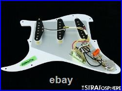 NEW Fender Stratocaster LOADED PICKGUARD Strat Yosemite White 3 Ply 11 Hole