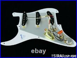 NEW Fender Stratocaster LOADED PICKGUARD Strat Yosemite White 3 Ply 8 Hole
