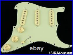 NEW LOADED PICKGUARD Seymour Duncan APS1 for Fender Strat Mint Green 3Ply 11Hole