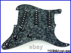 NEW LOADED PICKGUARD Seymour Duncan SSL-1 for Fender Strat Black Pearloid 8 Hole