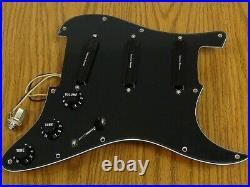 NEW Seymour Duncan BLACK Triple Hot Rails for Strat LOADED PICKGUARD TRS1PG
