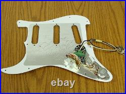 NEW Seymour Duncan BYOP Liberator Strat LOADED PICKGUARD for Stratocaster White