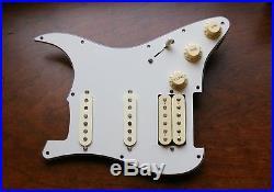 New Fender Diamondback + 57/62 Loaded HSS Strat Pickguard Aged White / Parchment