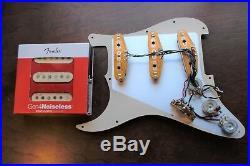 New Fender Gen 4 Loaded Prewired Strat Guitar Pickguard Aged Cream on Aged Pearl