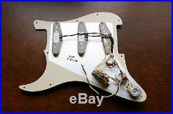 New Fender Loaded Strat Pickguard Custom Shop 69 Aged Cream on Black USA