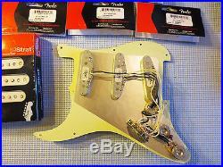 New Fender Loaded Strat Pickguard Custom Shop Abby 69 White on Mint Green US
