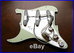 New Fender Loaded Strat Pickguard Custom Shop Abby All Mint Green Made in USA