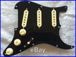 New Fender Loaded Strat Pickguard Custom Shop Fat 60s Aged Cream on Black USA