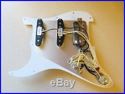 New Fender Lone Star Loaded Strat Pickguard HSS Pearly Gates Zebra on White USA