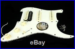 New Fender ShawBucker Loaded HSS Strat Pickguard Fat 50s Pickups Zebra Parchment