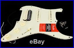 New Fender ShawBucker Loaded HSS Strat Pickguard Fat 50s Pickups Zebra on Cream