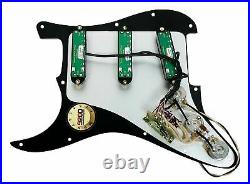 New Seymour Duncan Everything Axe Loaded Strat Pickguard Black USA Or Any Color