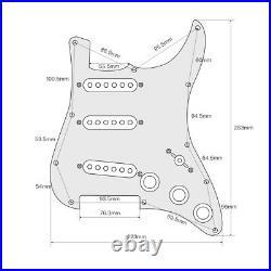 OriPure Loaded Prewired Alnico 5 Single Coil Pickups Strat SSS Guitar Pickguard
