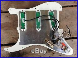 Prewired Strat Pickguard Parchment Loaded Seymour Duncan Everything Axe White