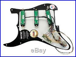 Seymour Duncan All Hot Rails Loaded Strat Pickguard Black Pearl / Black