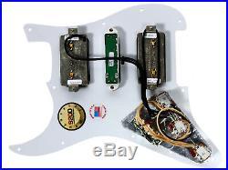Seymour Duncan HSH P-Rails Loaded Strat Pickguard White Pearl / White