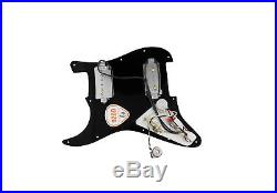 Seymour Duncan P-Rails HH Loaded Strat Pickguard Black / Black