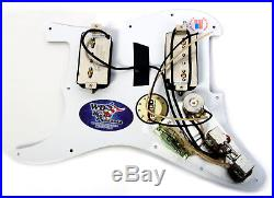 Seymour Duncan P-Rails HH Loaded Strat Pickguard Black Pearl / Black