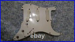 Strat Plus Loaded Pickguard, Lace Sensors Red-Silver-Blue, Excellent, Deluxe, USA